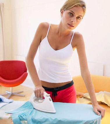 как гладить рубашку из хлопка